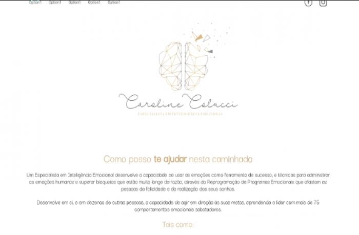 Sites focados em Caroline Colucci