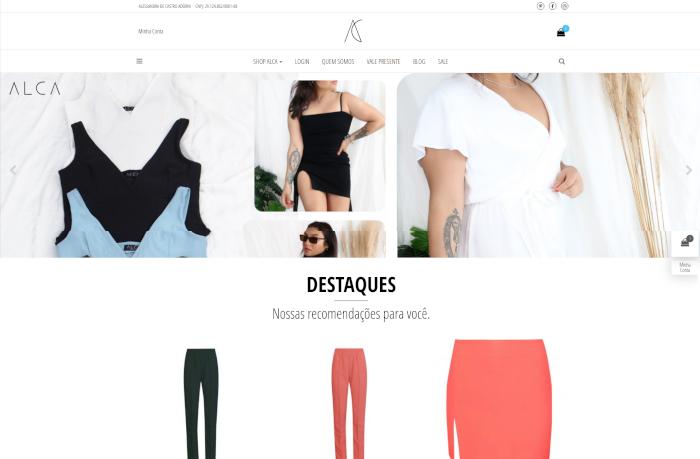 Sites focados em Shop Alca
